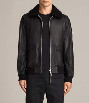 AllSaints Oban Aviator Leather Jacket