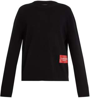 Calvin Klein Electric Chair-print wool-blend sweater