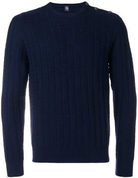 Eleventy zigzag knit crew neck sweater