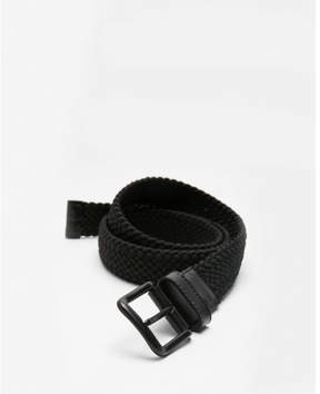 Express black web stretch belt