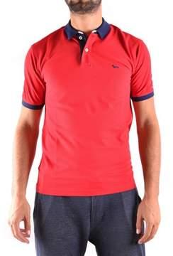 Harmont & Blaine Men's Red Cotton Polo Shirt.