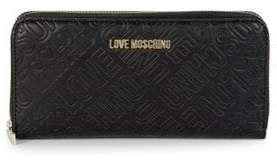 Love Moschino Embossed Logo Continental Wallet