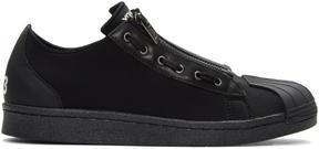 Y-3 Black Super Zip Sneakers