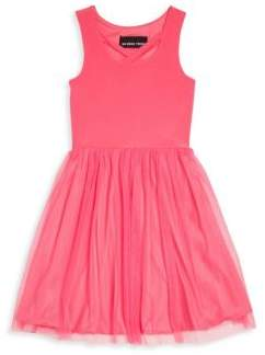 Un Deux Trois Little Girl's & Girl's Pleated Sleeveless Frock