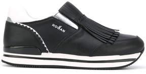 Hogan fringed slip-on sneakers