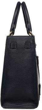 Michael Kors Blue Reagan Hammered Leather Top Handle Bag - BLUE - STYLE