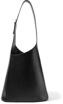 Victoria Beckham Asymmetric Leather Shoulder Bag - Black