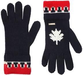 DSQUARED2 Wool & Alpaca Blend Knit Gloves