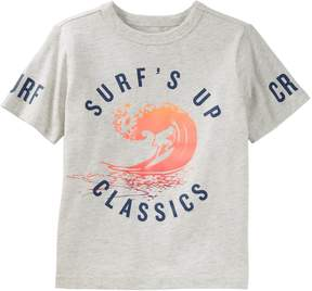 Osh Kosh Oshkosh Bgosh Boys 4-12 Surf's Up Classics Surfing Graphic Tee