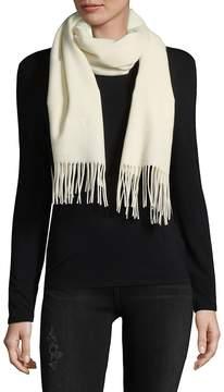 Moschino Women's Fringe Merino Wool Scarf