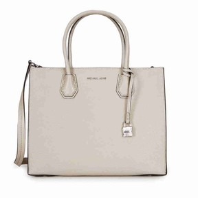 Michael Kors Mercer Large Leather Tote - CEMENT - STYLE