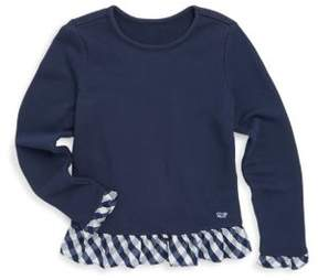 Vineyard Vines Toddler's, Little Girl's & Girl's Cotton Ruffle Top