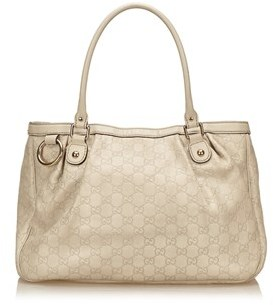 Gucci Pre-owned: Guccissima Leather Tote Bag. - GRAY X LIGHT GRAY - STYLE