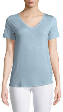 Neiman Marcus Majestic Paris for Soft Touch Short-Sleeve Top
