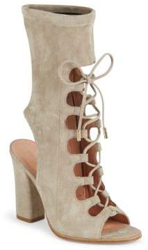 Sigerson Morrison Linda Suede Lace-Up Booties