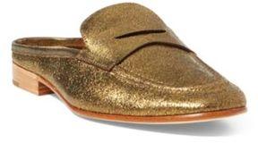 Ralph Lauren Ashlyn Metallic Loafer Mule Gold 8.5