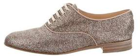 Christian Louboutin Glitter Round-Toe Oxfords