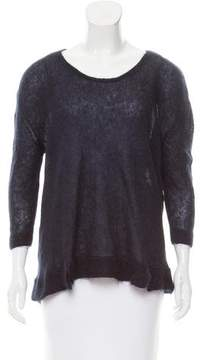 Band Of Outsiders Mohair-Silk Blend Scoop Neck Sweater