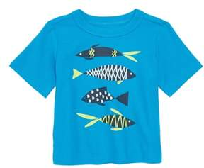 Tea Collection School of Fish Graphic T-Shirt