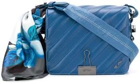 Off-White quilted flap shoulder bag