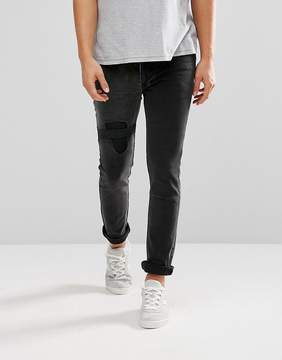 Religion Jeans in Slim Stretch Fit with Elastic Patch