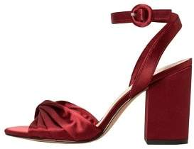 MANGO Satined ankle-cuff sandals