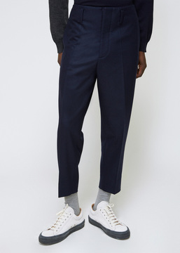 Marni Blue Navy Tapered Trouser