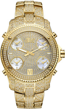 JBW Diamond Mens Gold Tone 2-pc. Watch Boxed Set-Jb-6213-550-A