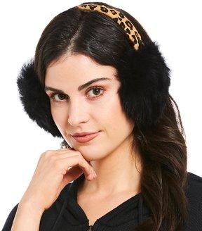 UGG Leopard Haircalf & Sheepskin Wired Earmuffs