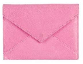 Smythson Leather Envelope Clutch