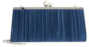 Nina Anella Pleated Satin Frame Clutch