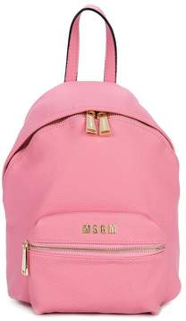 MSGM faux leather backpack