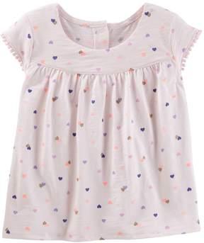 Osh Kosh Oshkosh Bgosh Toddler Girl Heart Jersey Tee