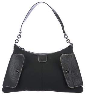 Tod's Leather-Trimmed Nylon Shoulder Bag