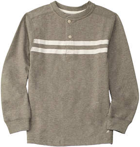 Nautica Boys' Striped Henley
