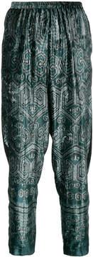 Forte Forte Ikat print velvet trousers