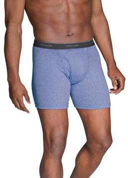 Fruit of the Loom Big Men's Stripes and Solids Boxer Briefs, 4-Pack