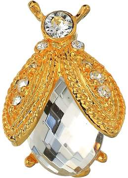 Kenneth Jay Lane Gold Rhine/Faceted Crystal Bee Pin Brooches Pins