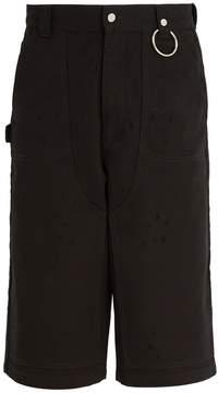 Givenchy Wide-leg denim shorts