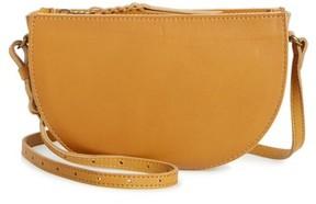 Madewell Juniper Vachetta Leather Half Moon Crossbody Bag - Brown