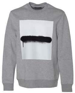 Diesel Black Gold Men's Grey Viscose Sweatshirt.