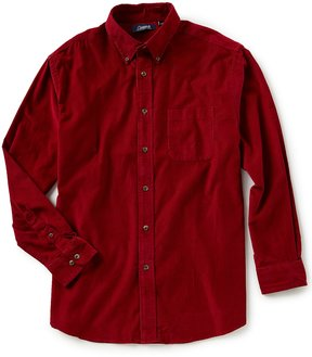 Roundtree & Yorke Casuals Long-Sleeve Solid Corduroy Sportshirt