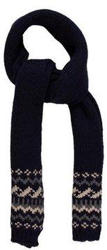 Moncler Striped Rib Knit Scarf