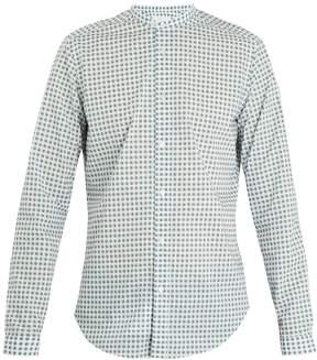 Boglioli Grandad-collar geometric-print cotton shirt