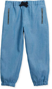 Burberry Phillie Track Pants, Blue, Size 4-14