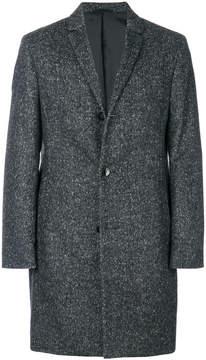 Calvin Klein flecked single-breasted coat