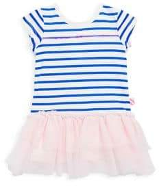 Billieblush Baby's& Toddler's Striped Jersey Tulle Dress