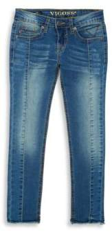 Vigoss Girl's Piece Out Pebble Jeans