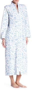 Carole Hochman Printed Long Sleeve Zip Robe