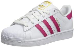 adidas Kids Superstar Originals Ftwwht/Bopink/Ftwwht Casual Shoe 6 Kids US
